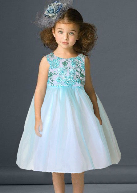 free shipping branded  summer girl dress for party with sequins and flowers girl ball gown dress kids dress
