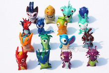 16pcs/set Anime Cartoon 4cm Mini Slugterra PVC Action Figures Toys Dolls Child Toys(China (Mainland))