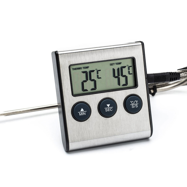 Acheter num rique cuisine thermom tre for Thermometre de cuisine avec sonde