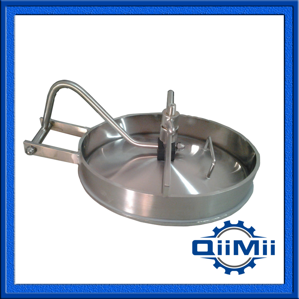 530x430mm SS316L Oval manways ;Sanitary Manhole Cover,Stainless steel manway(China (Mainland))