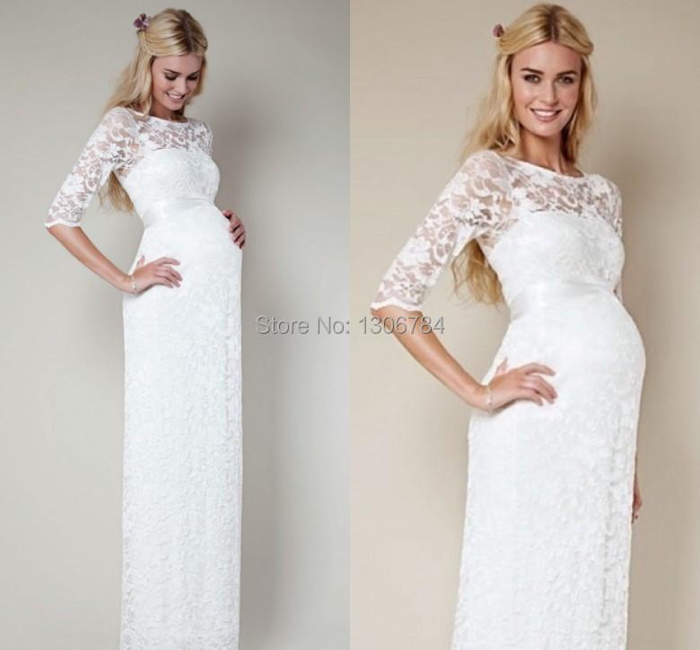 Красивые белые платья для беременных
