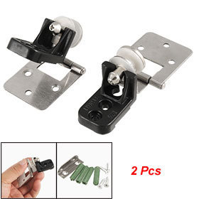 2 Pcs Wall to Glass Adjustable Hinges w Installing Parts Free shipping(China (Mainland))