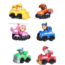 12 Pcs Puppy Patrol patrulla canina toy Action Figure Dogs Anime Toys Figurine Cars Plastic Toy Children Gifts baby kids toys
