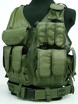 US SWAT Airsoft Tactical Hunting Combat Vest OD
