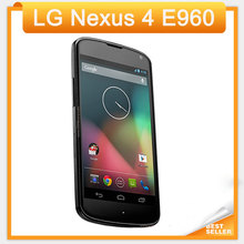 E960 Original LG Nexus 4 E960 Cell Phone 3G 16GB ROM 2GB RAM 8MP Camera 4.7'' Quad Core NFC Unlocked Smartphone add free gifts(China (Mainland))