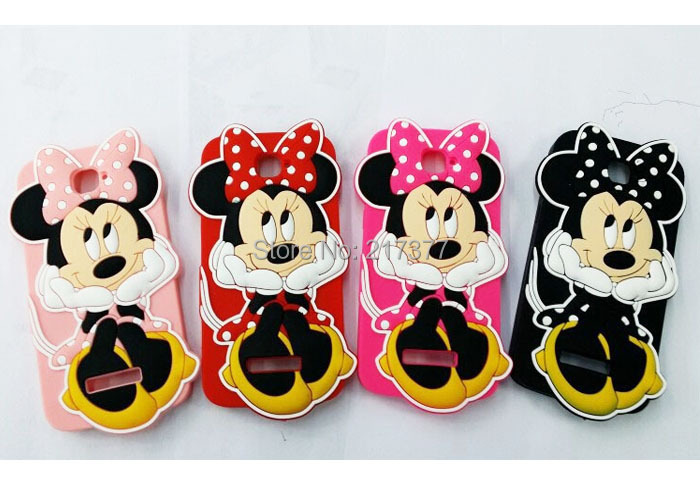 Alcatel One Touch POP C7 OT 7041D 7040D Cartoon 3D Bow minnie mouse Silicone Soft Back Cover Phone Case - Mobile and Retail Center store