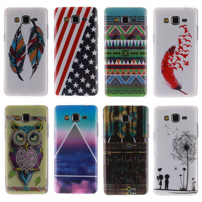 New Arrival Fashion Owl And Flag TPU IMD Slim Silicone Soft Cell Phone Cover Case For Samsung Galaxy Grand Prime G530 G530H A(China (Mainland))