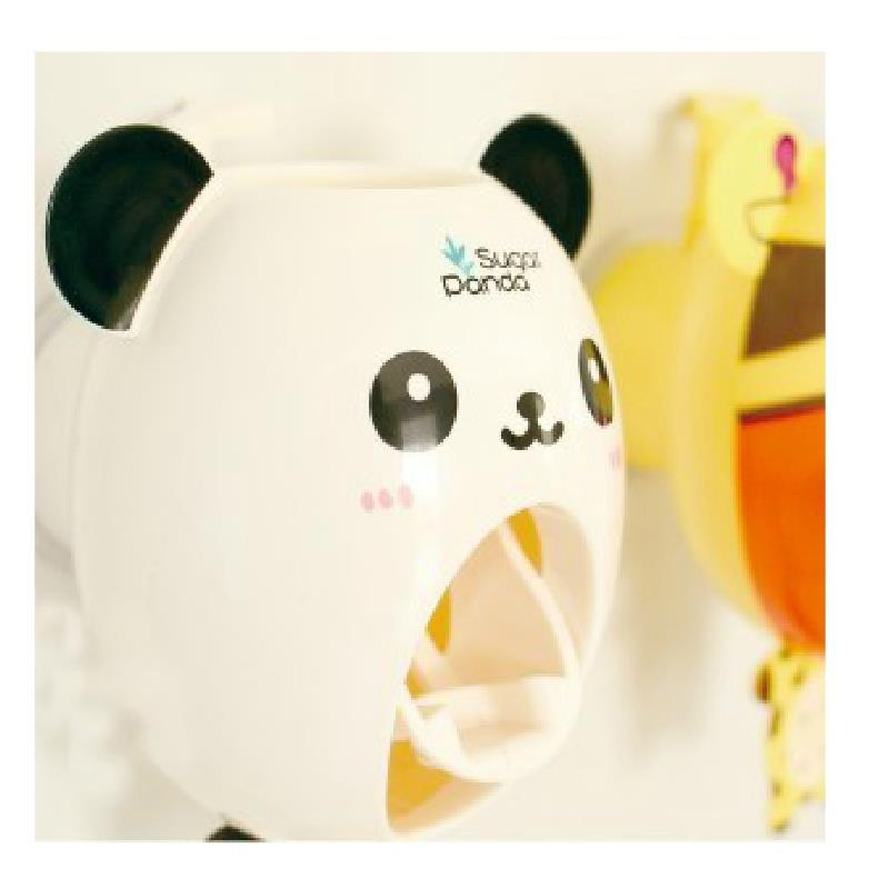 bathroom accessories products Panda lazy automatic toothpaste dispenser bathroom home banheiro bath(China (Mainland))