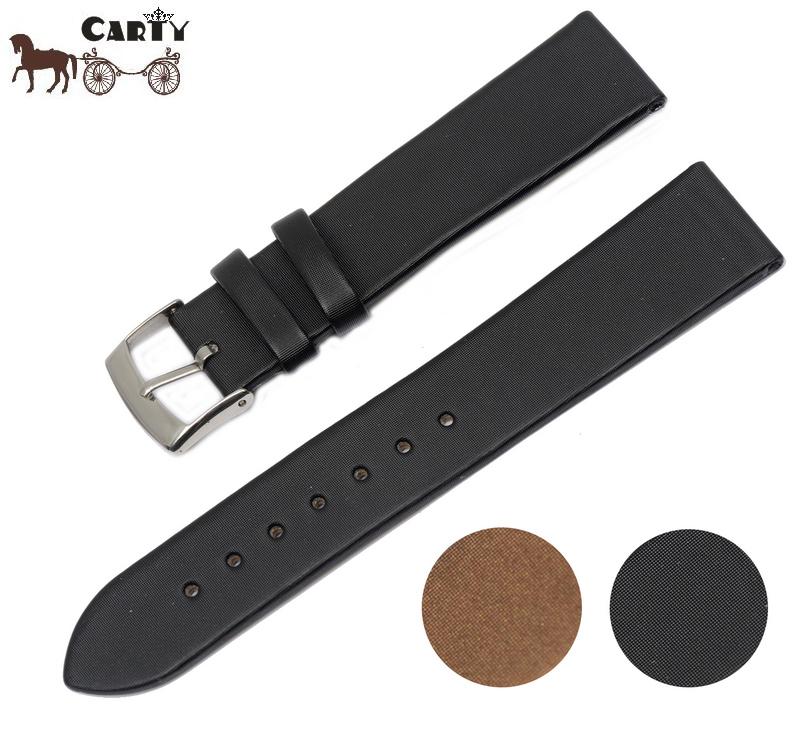 Carty Silk Strap Wristwatch Watchband Accessories Men Suitable T009 20mm Black Brown<br><br>Aliexpress