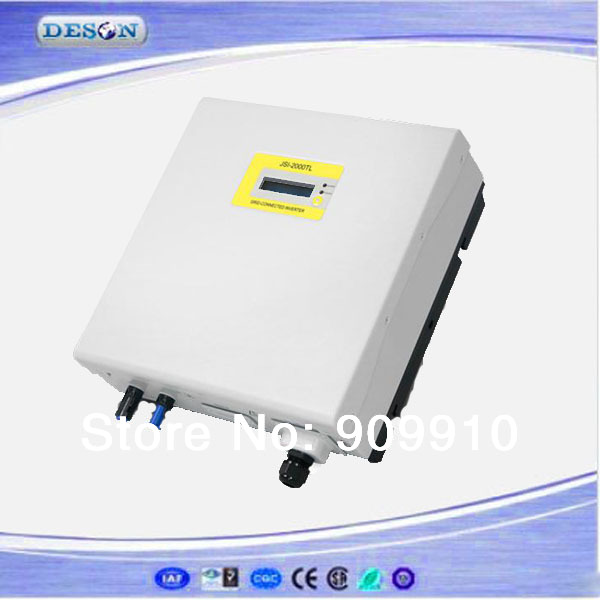 High performance grid tie solar inverter , 100-450Vdc to 230VAC transformer-less 2000W single phase type inverter grid tied(China (Mainland))