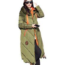 Chaqueta de Invierno de manga larga con capucha algodón para Mujer