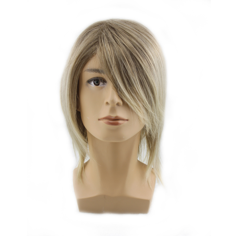 Handsome high quality man wigs men blonde short mens wig natural hair male wigs synthetic hair flax male vogue wig cosplay sexy(China (Mainland))
