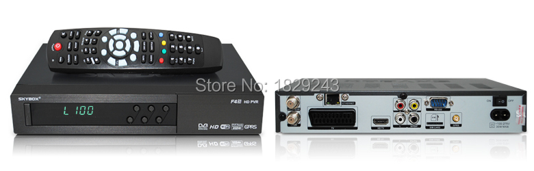 2pcs FREE SHIPPING S-F4S Original Skybox TV Receiver with GPRS build-in VFD Display TV Box Support Sharing(China (Mainland))