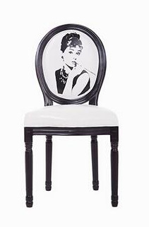 Portrait Series European Modern Antique Style Design Oak Wooden Retro Hotel Cafe Leather Dining Chair Solid Wood Furniture(China (Mainland))