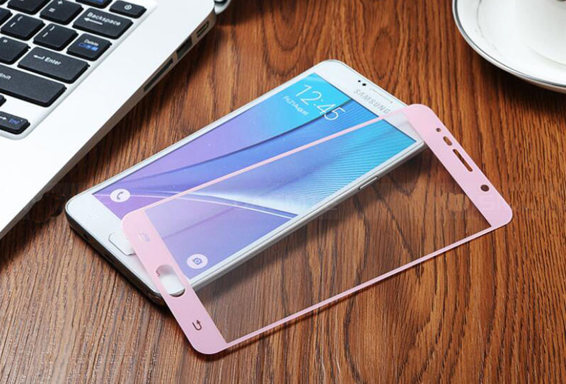 0.33mm 9H Colorized Tempered Glass for Samsung Galaxy Note 3 4 5 S3 S4 S5 S6 A7 Silk-Print Full Screen Protector Film