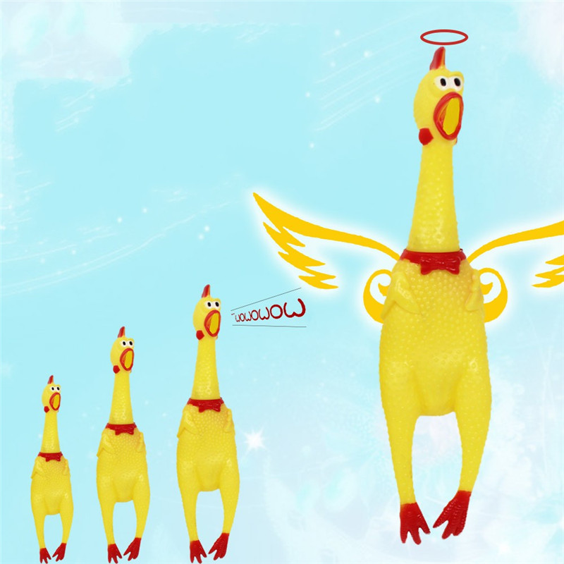30cm 17cm 41cm Screaming Chicken Squeeze Sound Toy Pets Toy Product Dog Toys Shrilling Decompression Tool gadgetsFunny(China (Mainland))