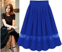 Brand Skirt Saia Fashion Summer Style Female Womens Short Quality Desigual Chiffon Sweet Colour Femininas Skirts Woman Clothes