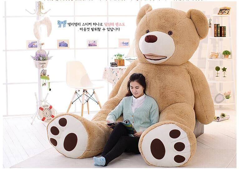 1pcs 130CM 53 inch Giant plush Teddy Bear life size Plush Toys Gifts for Kids Christmas Birthday Gifts kawaii(China (Mainland))