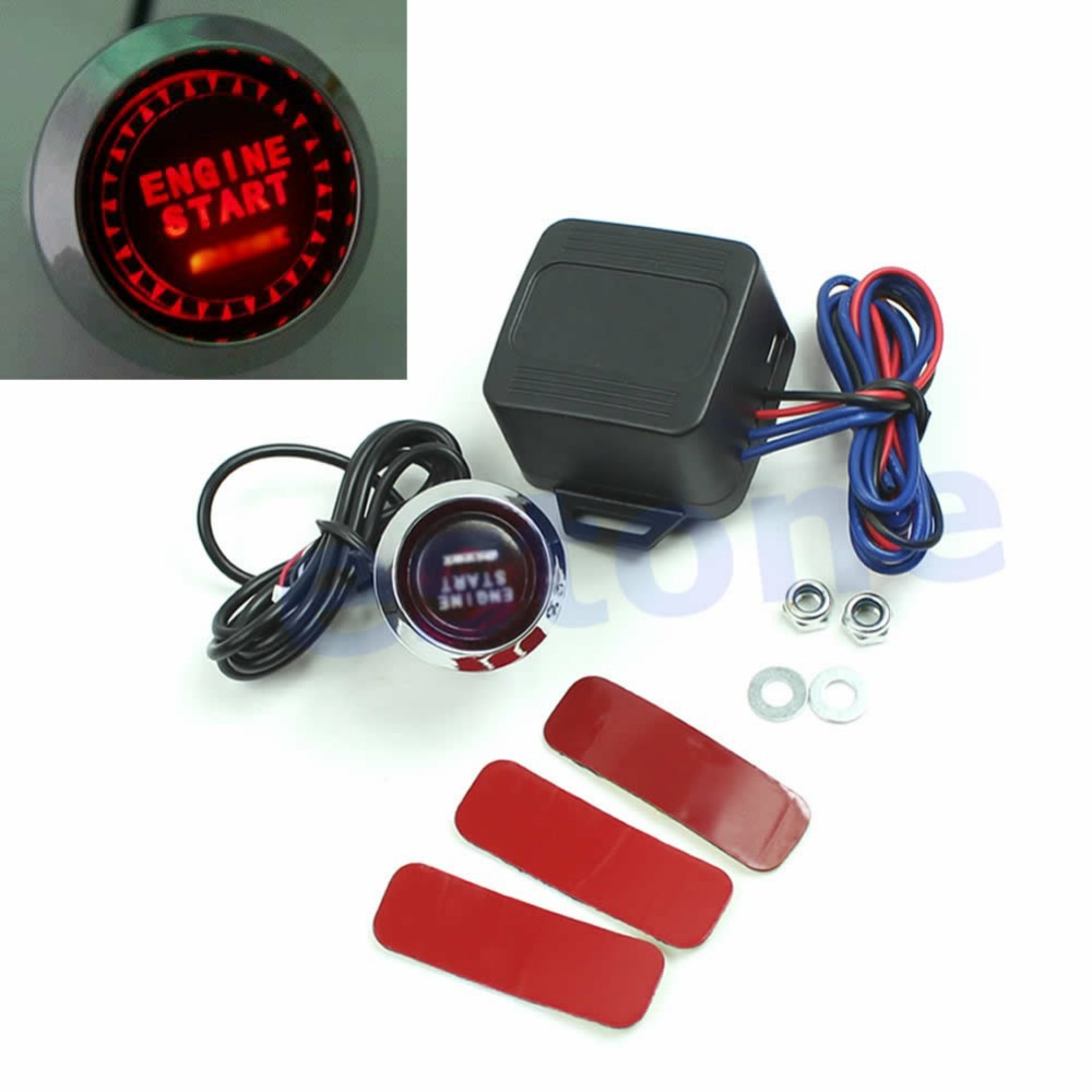 1SET 12V Car Engine Start Push Button Switch Ignition Starter Kit Red LED Universal Free Shipping<br><br>Aliexpress