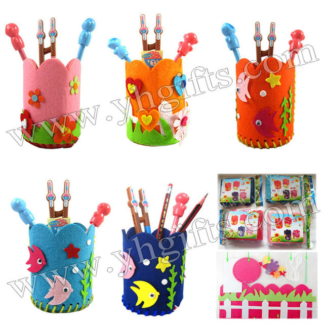 50pcs lot diy fabric pen holders craft kits pencil bag for Diy handicraft items