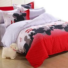 4Pcs 3pcs Kids Cute Bedding Set Cartoon Minnie Mouse Monkey Cat Bed Sheet/Duvet Cover/Pillowcase Bed Set Boys Girls Bedding Sets(China (Mainland))