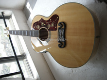 2015 New + Factory Chibson J200 NA acoustic guitar G electric AAA sitka spruce top flame maple back&sides - Kevin Shi Guitars store