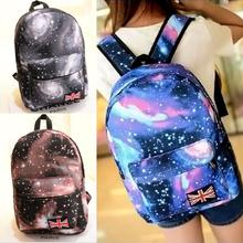 fshion lady Oxford printing backpack Galaxy Stars Universe Space School Book Campus student Backpack British flag