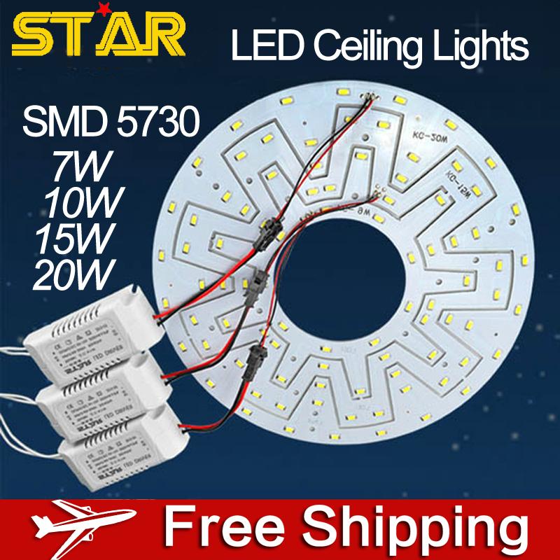 Гаджет  2pcs/lot 20W High Bright 5730 85-265V 1600LM Brand IC Ring Board LED Ceiling Lights Replace Panel LED Lamp DIY Accessories None Свет и освещение