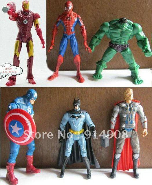 Free Shipping 300PCS/Lot Marvel The Avengers Heros Movie Hulk+Captain+Batman+Iron Man+Spiderman+Wolverine