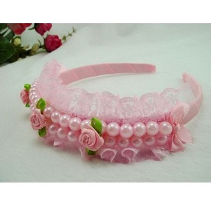 Freeshipping!New Girls/Kids/Infant/Baby pearl lace clamp / Hairclips&band/Hairpins/Accessories,WJF065 - Vifa (mamufacturer store baby&bride headwear Center)