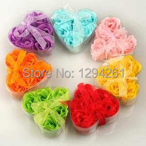 STYLE Scented Flower Bath Body Soaps Soap Rose Petal For Bathing Wedding #6922 r8kP7(China (Mainland))