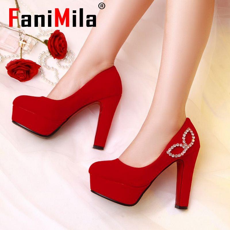 women high heel shoes flock new arrival fashion spring summer office pumps brand platform footwear heels shoes size 33-41 P22908<br><br>Aliexpress