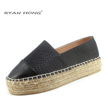women's platform espadrilles Canvas Flats Hemp alpargata shoes for women's mesh casual shoes pu platform alpargata breathable