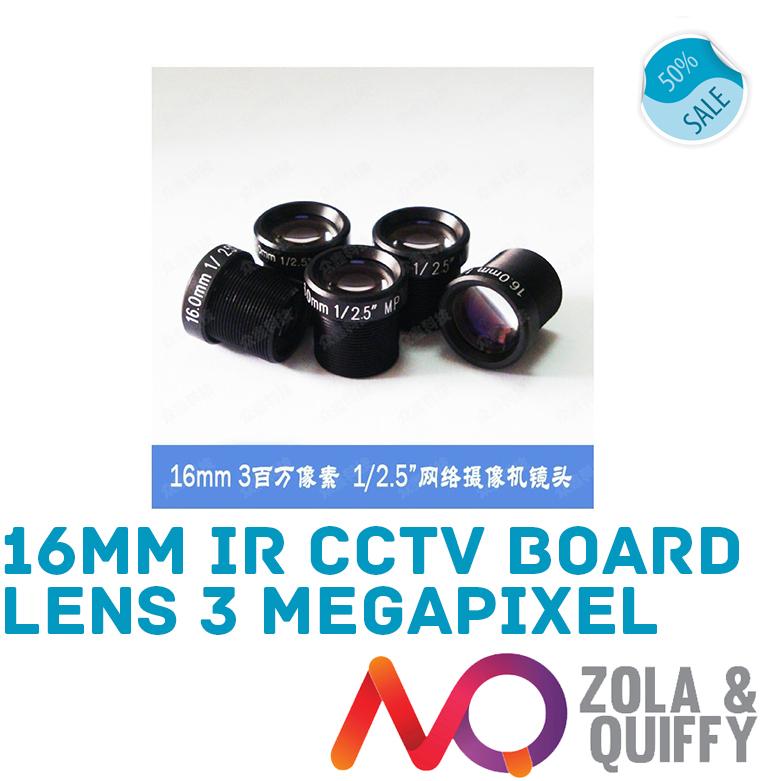 3 Megapixel 16mm IR CCTV Board Lens Megapixel for CCTV Security Cameras -Foscam Cameras M12 mount(China (Mainland))