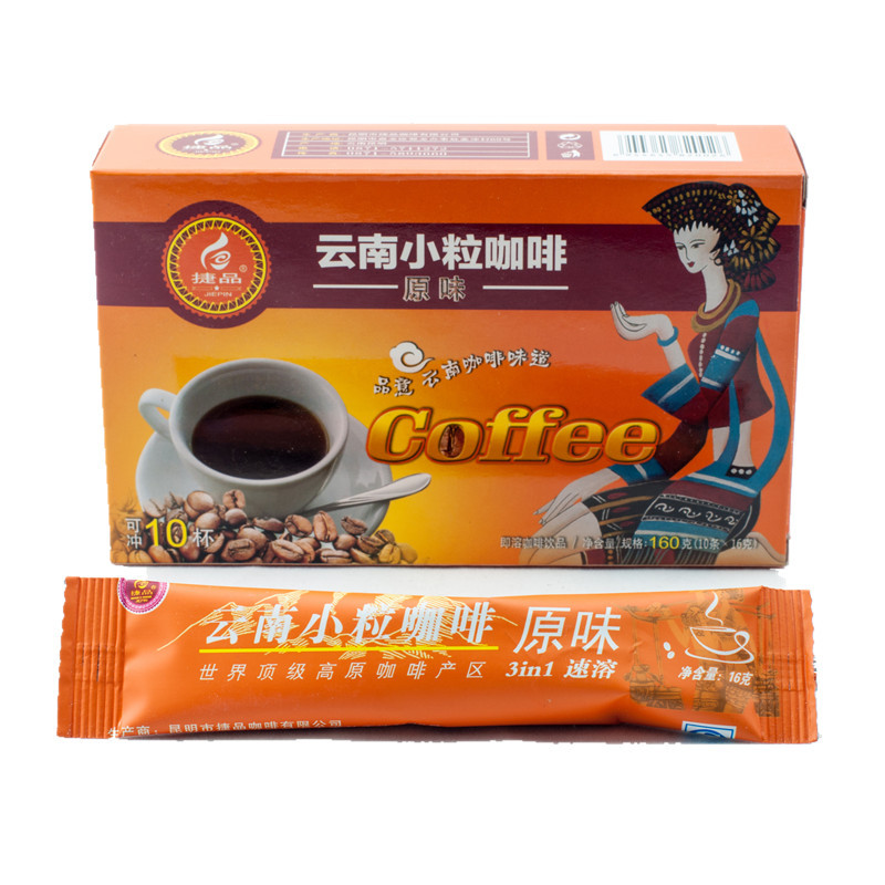 Small grain coffee three in instant coffee original taste