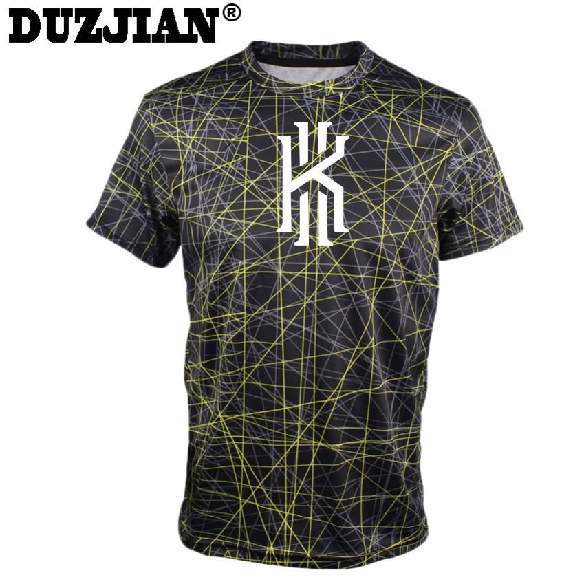 DUZJIAN men's Cavalierse Kyrie Irving Short-sleeved T-shirt custom bodybuilding jersey college jersey bodybuilding t shirt(China (Mainland))