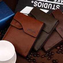 New Arrival Leather Men Wallets Brand Fashion Designer Short Wallet Card Bag High Quality Money Purse Coin Holder