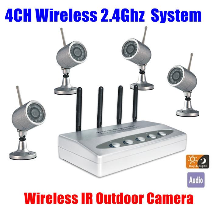 4CH USB QUAD WIRELESS CCTV IR Nightvision outdoor waterproof Camera DVR Security dvr kit system<br><br>Aliexpress