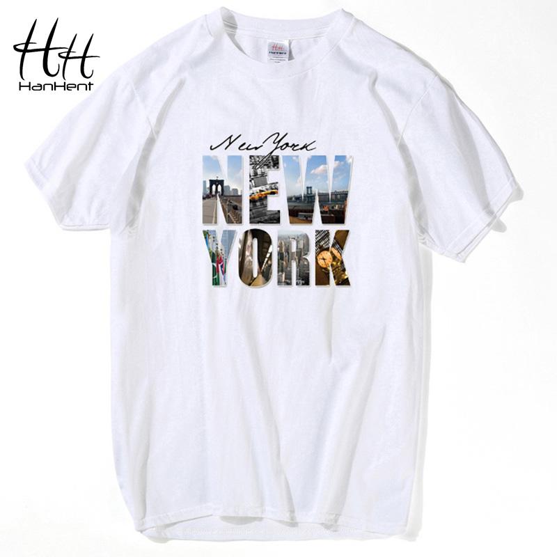 Hanhent high quality new york printed t shirt short for High quality printed t shirts