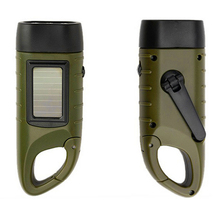 Rechargeable Solar Hand Crank Power LED Flashlight Torch Emergency Light For Outdoor Camping Hiking Light VHE64 P15 0.2(China (Mainland))