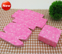 Small pink paper box , small packaging boxes for jewelry ,7.5*7.5*3cm paper box pink