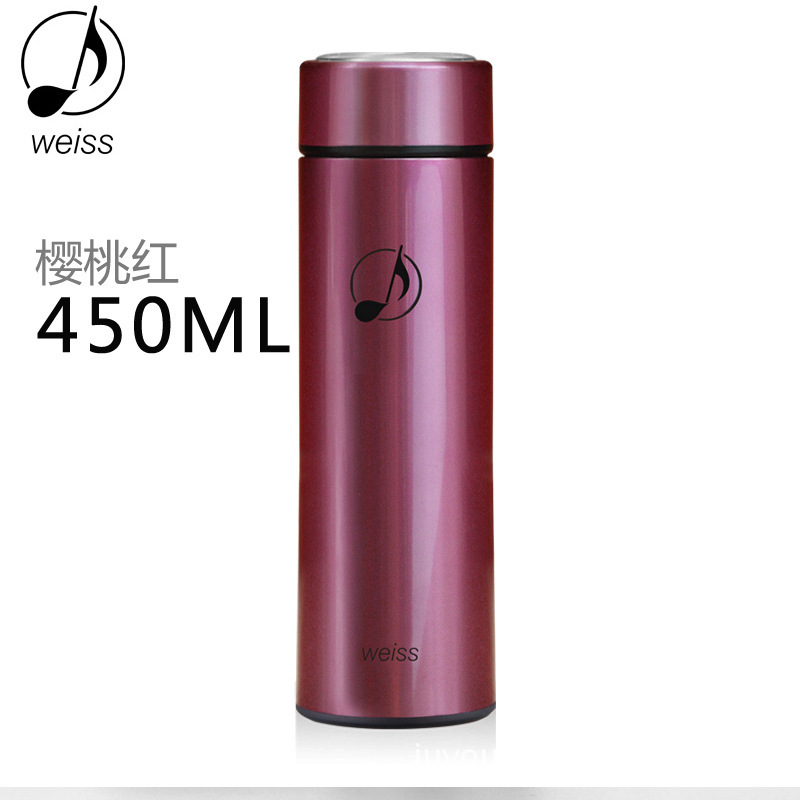 stainless steel termo vacuum insulation Cup termos Men's high-grade commercial upright water cup portable thermos(China (Mainland))