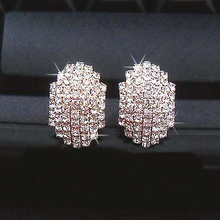 LZ  E320 E321 The 2016 New Fashion Alloy Crystal Plated Gold Beetle Earrings For Women(China (Mainland))