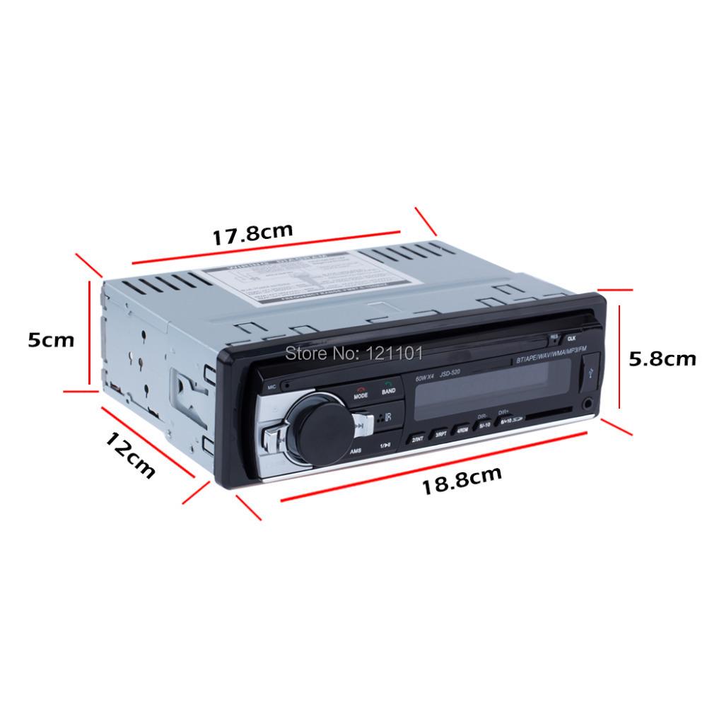 Автомобиль радио стерео плеер Bluetooth AUX-IN MP3 FM / USB / 1 Din / пульт дистанционного управления для Iphone 12 V автомобиль аудио автоматический поддержка смартфонов
