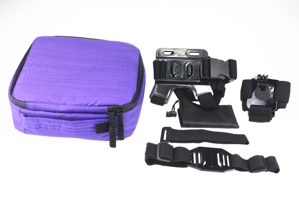 F08177-B Storage Bag Camera Handlebar Shoulder Strap Head Wrist Helmet Action GoPro Hero 2 3 - JMTTOP store