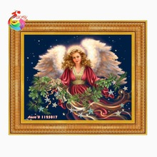 Diy diamond painting scenic diamond cross stitch crystal square diamond sets unfinished full diamond embroidery religion angel(China (Mainland))