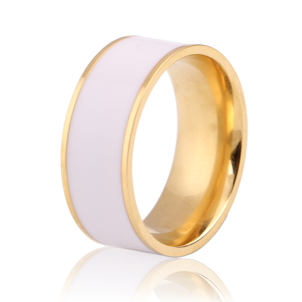 Martick Free Shipping Fashion Rings With White Drop Rubber Gold Color Man  Party Rings Knuckle Jewelry