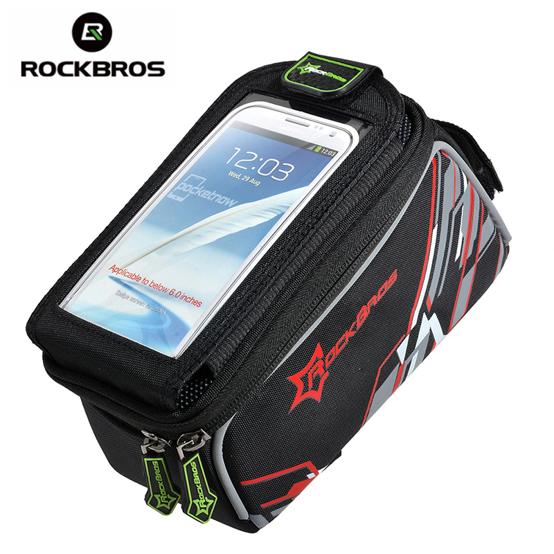 ROCKBROS Waterproof MTB Bike Bicycle Front Top Frame Handlebar Bag Cycling Pouch Touchscreen Panniers Reflective Bags 2 Sizes(China (Mainland))