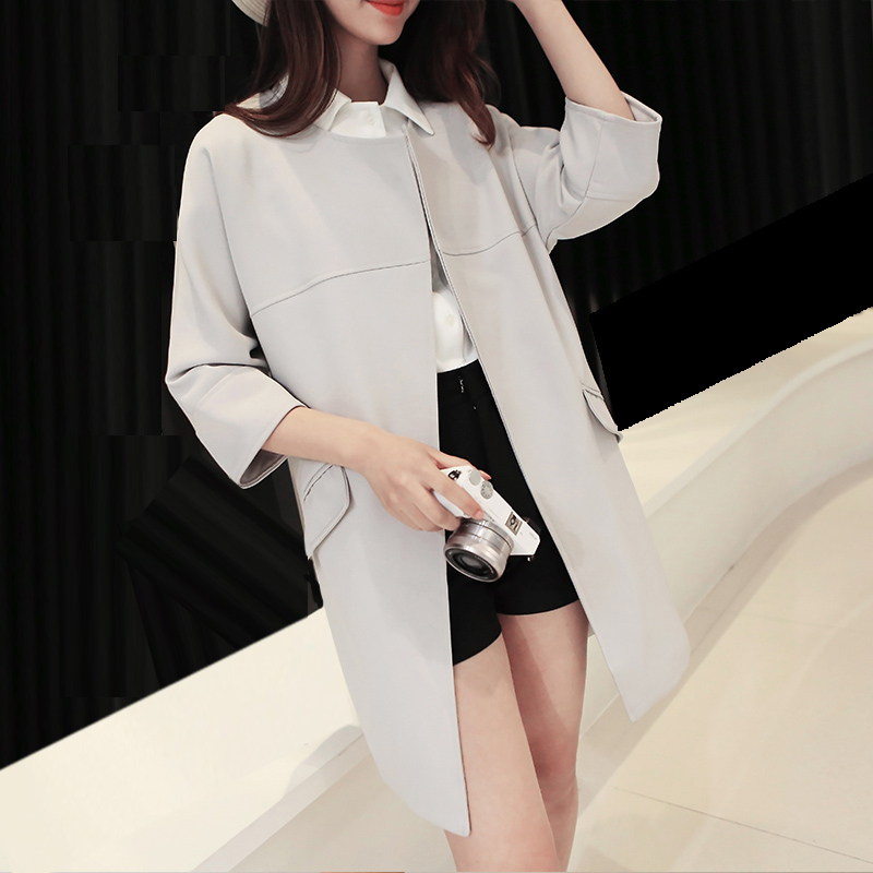 Korean Trench Coat For Women Spring 2016 Fashion/Casual Women's Overcoat Long Outerwear Loose Clothes For Lady Good Quality L321(China (Mainland))