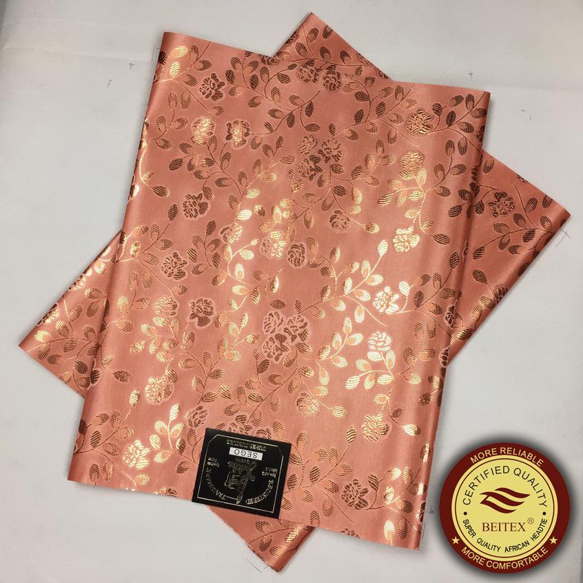 African Sego Headtie,Peach Gele&Ipele Nigeria Headwrap,2pcs/pack BEITEX Jubilee Quality New Fashion Pattern African Head tie(China (Mainland))